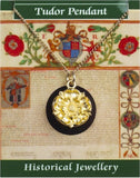 Tudor Rose English Royalty Monarchy Renaissance Costume Pendant Necklace