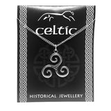 Celtic Triskele Triple Spiral Irish Pewter Costume Jewelry Pendant Necklace Unisex