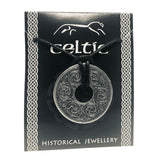 Celtic Round Disc Pewter Costume Jewelry Pendant Necklace Unisex