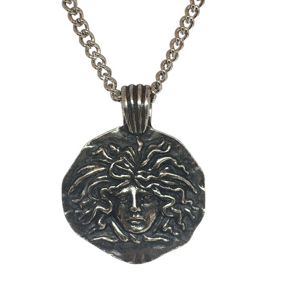 Medusa Head Snake Goddess Greek Roman Pendant Historical Costume Necklace