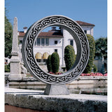 Celtic Circle Eternal Symbol of Life and Divine Love Garden Meditation Sculpture 32H