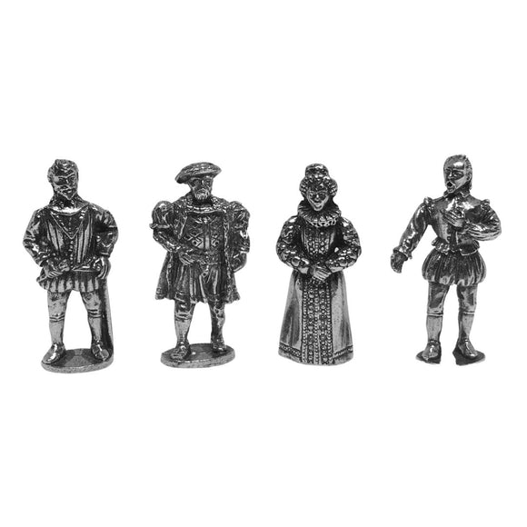Tudor Miniatures Elizabeth I Henry VIII Sir Francis Drake Shakespeare Role Playing Pack of 4 Mini Figures 1.5H