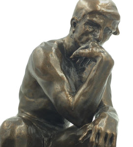 Museumize:The Thinker Statue of Deep Contemplation by Rodin Large 10H