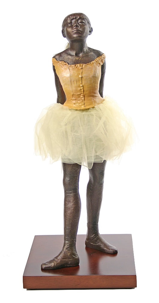 Degas Fourteen Year Old Little Dancer Ballerina with Fabric Skirt, Large 13.5H - Netting Skirt