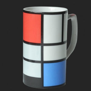 Mug Mondrian Abstract Composition 1921 Ceramic 8oz