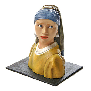 Girl with Pearl Earring Statue Collectible Figurine Recreation by Vermeer 3.5H