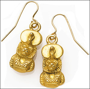 Egyptian Sekhmet (Sakhmet) Medicine and Healing Dangle Earrings