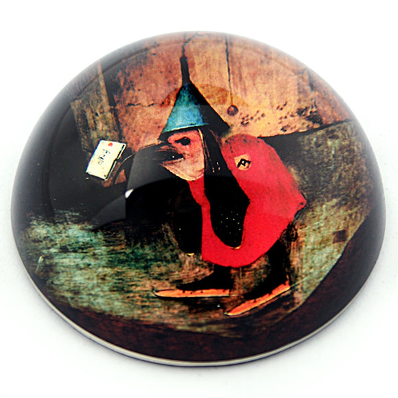 Bosch Bird With Letter Glass Dome Gift Paperweight 3W