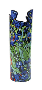 Irises Flower Ceramic Vase by Van Gogh 10H