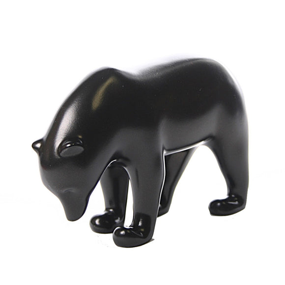 Dark Brown Bear with Head Down Animal Statue by Pompon 6.25W