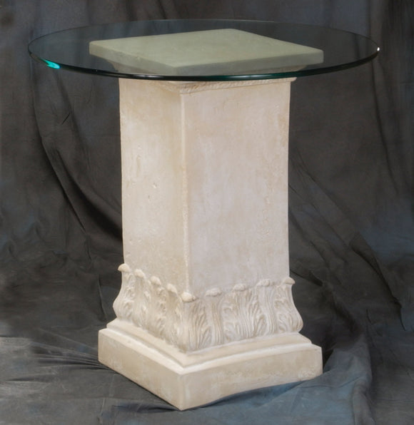 Acanthus Square Designer Dining Table Base 29H