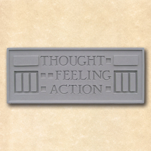 Thought Feeling Action Wall Plaque Larkin Building by Frank Lloyd Wright 14W