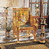 Tutankhamen Egyptian Boy Pharaoh Golden Throne Chair Full Scale Replica 42H Freight