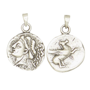 Aphrodite Venus Greek Goddess of Love Olympians Pewter Pendant Charm Unisex Necklace 1H
