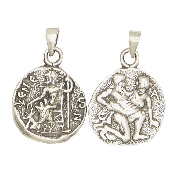 Hades Pluto Greek God of Underworld and Death Olympians Pewter Pendant Charm Unisex Necklace 1H