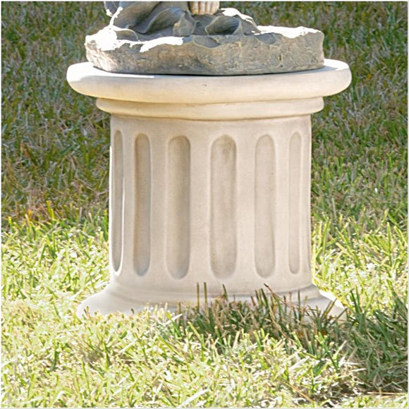 Roman Doric Wide Column Classical Fluted Architectural Plinth 17W x 16H