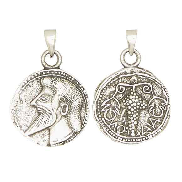Dionysus Bacchus Greek God of Wine and Fertility Olympians Pewter Pendant Charm Unisex Necklace 1H