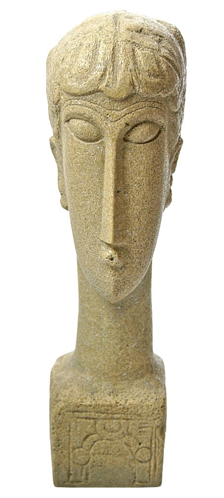 Modigliani Abstract Female Head Tetes with Decorative Base Parastone 8H