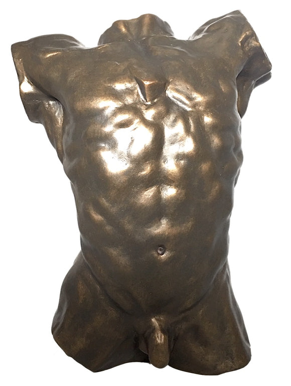 Rodin Male Nude Torso of the Falling Man Desktop Statue Massive Muscles Bodybuilder 10.25H