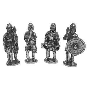 Viking Nordic Warriors Role Playing Pack of 4 Miniature Figures 1.5H