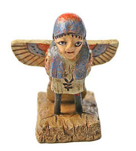 Ba-bird Human Soul Egyptian Statue Miniature Human Bird Figurine 2.75H