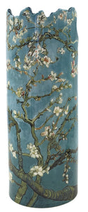 Van Gogh Almond Tree in Blossom Blue Grey Round Museum Art Ceramic Flower Vase 9H