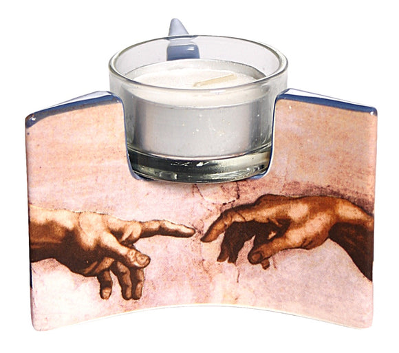 Michelangelo Creation Hands Ceramic Tealight Candleholder 3.5W