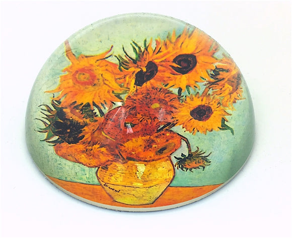Sunflowers Glass Dome Desktop Paperweight by Van Gogh 3W