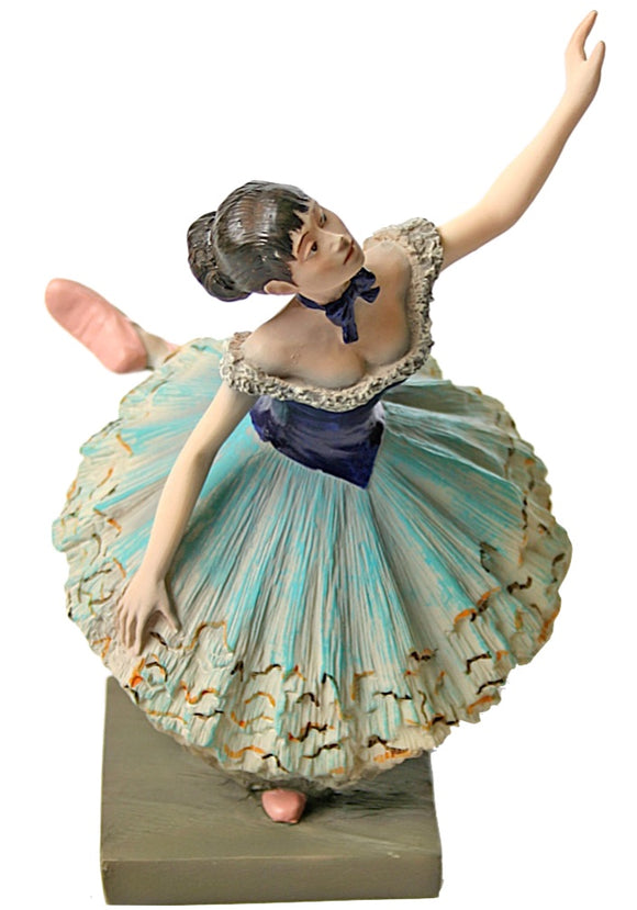Degas Green Ballerina Dancer in Tutu Danseuse Verte Statue by Degas 6.5H