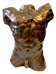 Rodin Male Nude Torso of the Falling Man Desktop Statue Massive Muscles Bodybuilder 6H