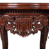 Lord Raffles Mahogany Wood Grande Hall Lion Leg Side Table 26H