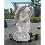 Praying Basilica Angel Kneeling Garden Statue 26H