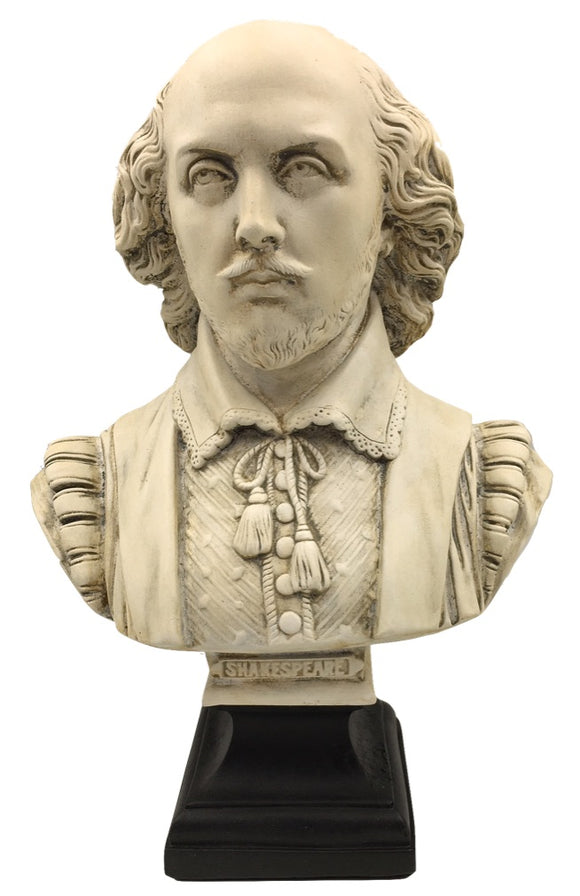 William Shakespeare The Bard Poet Portrait Bust 12.3H