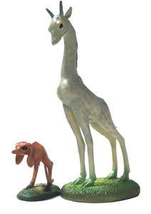 Giraffe and Two-Legged Dog Statue Set by Hieronymus Bosch 8.25H
