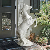 Rearing Mustang Horse Majestic Greeting at Entry Garden Statue 33H
