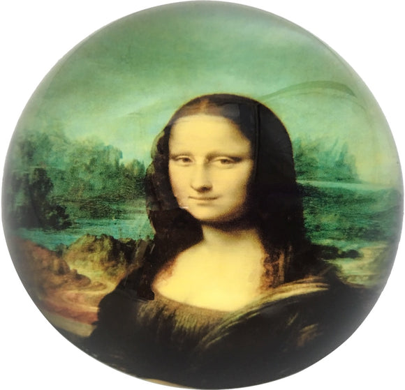 DaVinci Mona Lisa Glass Dome Desk Museum Paperweight 3W