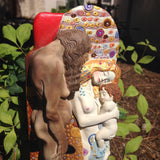 Klimt Three Ages of Women Old Lady Woman and Baby Statue Adaptation 10H