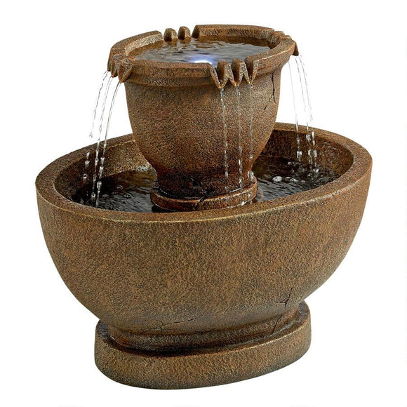 Large Richardson Oval Urns Fountain