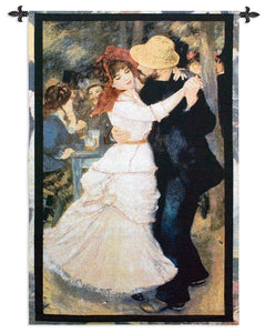 Dance at Bougival by Renoir Couple Dancing Wall Art Hanging Museum Woven Tapestry 38x53H