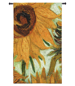 Van Gogh Vase with Twelve Sunflowers Wall Art Hanging Museum Woven Tapestry, Assorted Sizes