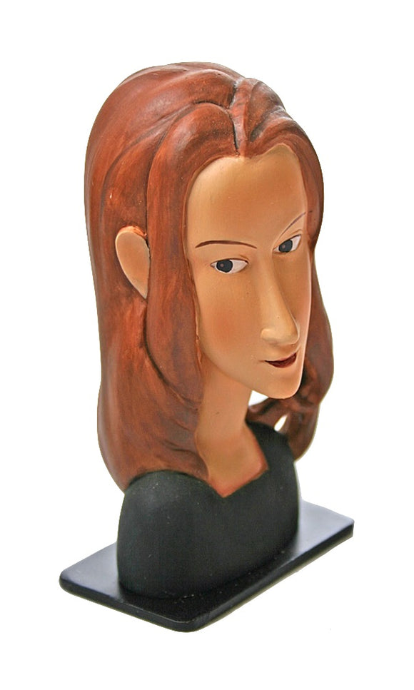 Modigliani Jeanne Hebuterne Woman Portrait Face Tender Expression Statue 4.5H