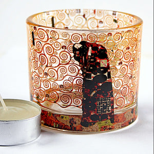 Klimt Fulfillment Glass Tealight Candleholder 2.3H