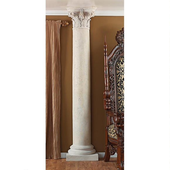 Corinthian Architecture Half Column Wall Home Decor Sculpture 86H