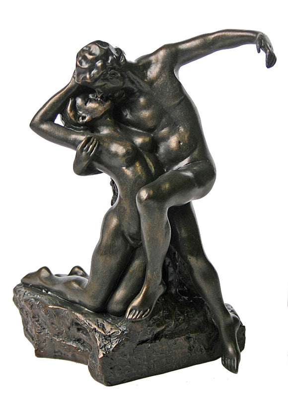 Eternal Springtime Lovers Embrace Eternal Kiss by Rodin 6.75H