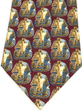 Museumize:Egyptian Pharaoh King Tutankhamun Mask Men Silk Neck Tie,Red