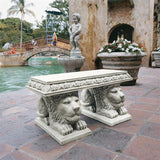 Crouching Lions of St. Johns Square European Style Garden Bench 30W