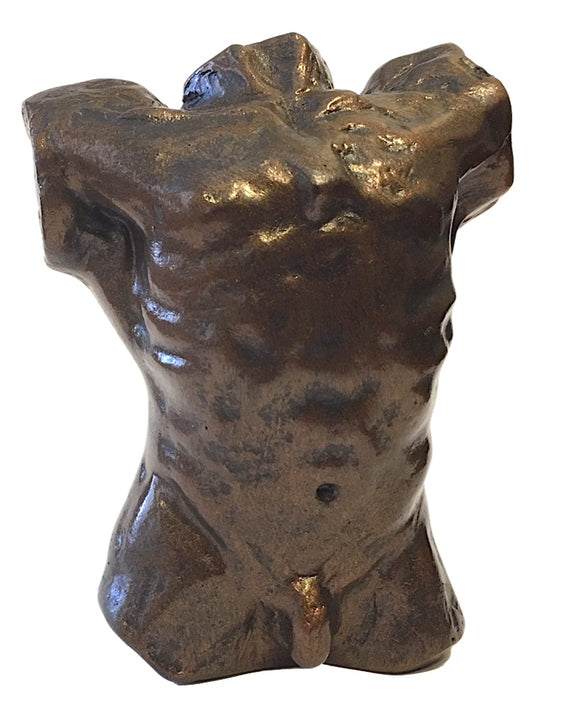 Pocket Art Rodin Male Torso of the Falling Man Miniature Statue Parastone 3.25H
