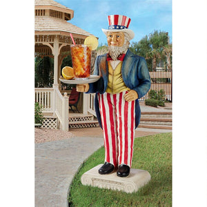 Uncle Sam Yankee Doodle Dandy Butler Pedestal Sculptural Table 14 x 32H