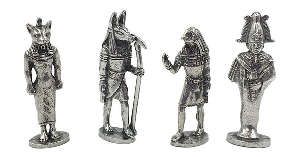 Egyptian Gods Goddesses Miniatures Role Playing Pack of 4 Figurines 1.5H
