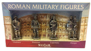 Roman Military Figures Fantasy Gaming or Role Playing Miniature Statue Set of 4 1.5H